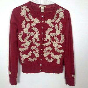 Sundance Embroidered Red Cardigan M